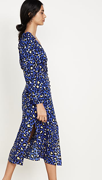 Rahi 蓝色豹纹连衣裙