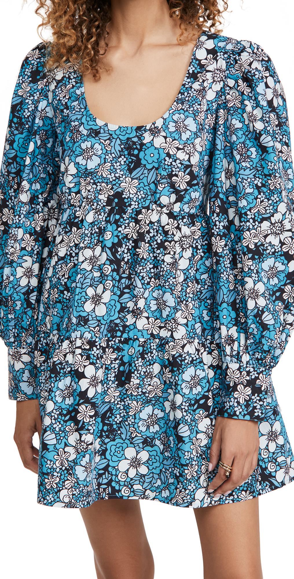 Rahi Long Sleeve Babydoll Dress