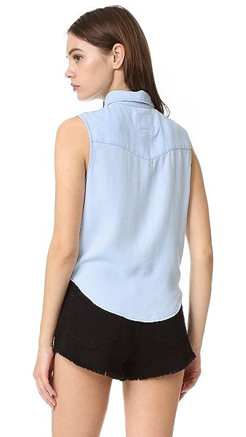 RAILS Рубашка на пуговицах без рукавов Shea