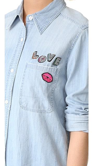 RAILS Love Patch Button Down