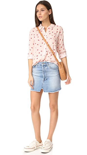 RAILS Rocsi Strawberries Button Down Shirt
