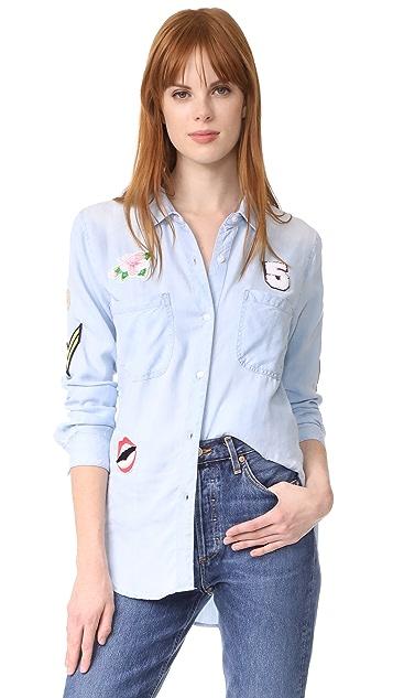 RAILS Рубашка Carter с пуговицами и нашивками