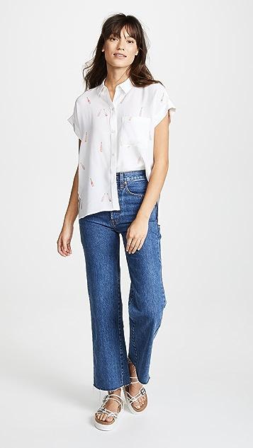 RAILS Silk Whitney Button Down Shirt