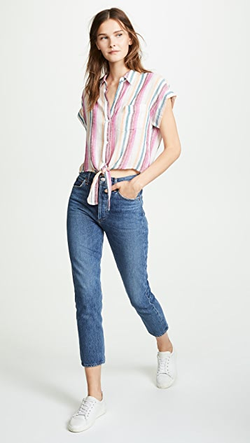 RAILS Amelie Short Sleeve Button Down