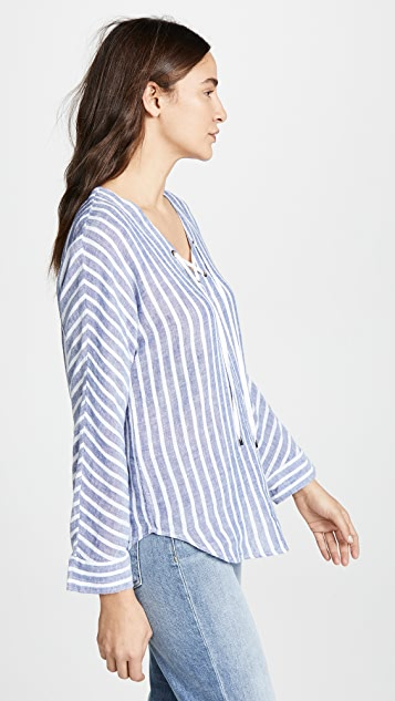 RAILS Lily Lace Up Top