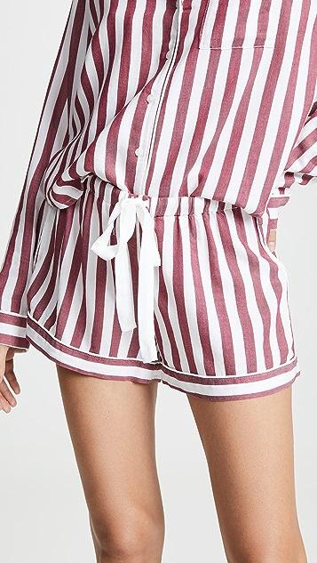 RAILS Long Sleeve Short PJ Set