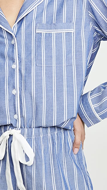 RAILS Long Sleeve PJ Set with Shorts