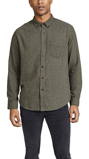 RAILS Solid Runson Button Down Brushed Shirt