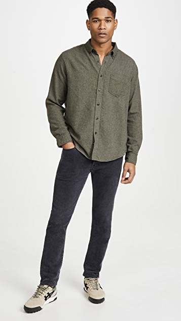 RAILS Solid Runson Button Down Brushed Shirt
