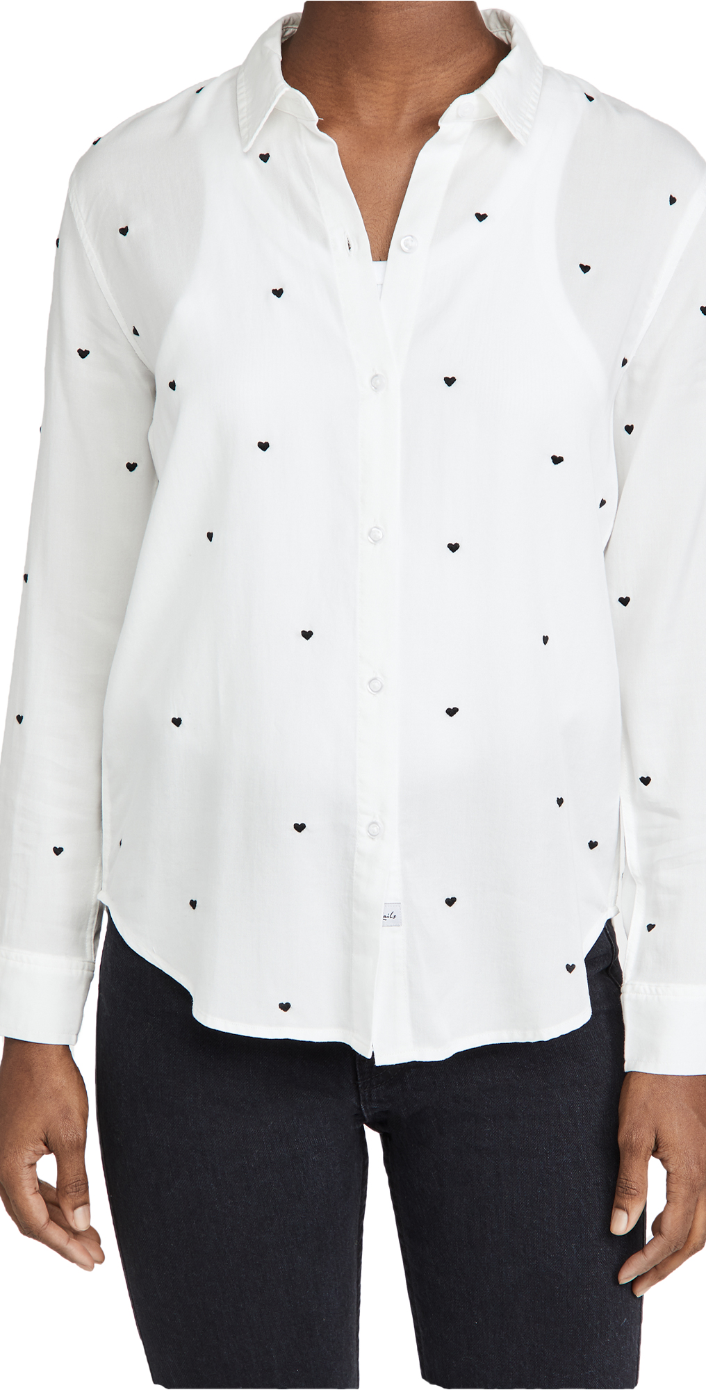 RAILS Yvonne Embroidered Hearts Button Down