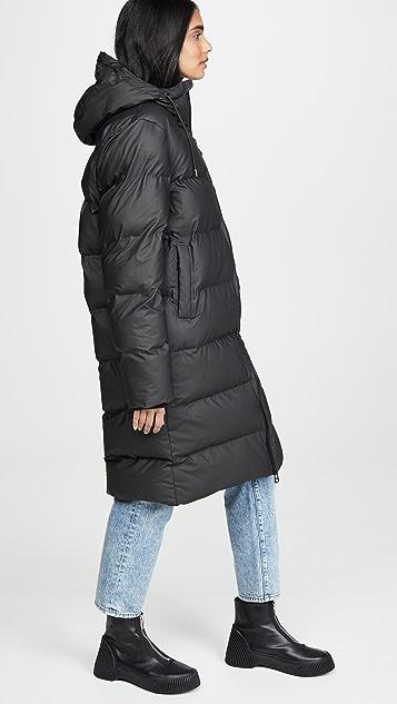 Rains Длинная пуховая куртка
