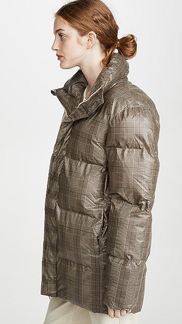 Rains Пуховое пальто в клетку