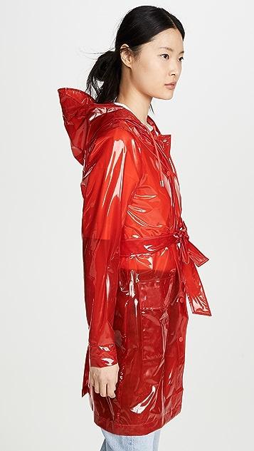Rains 透明腰带雨衣