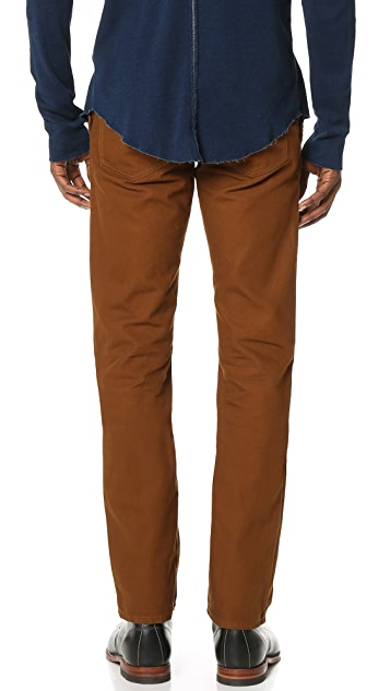 Raleigh Denim Jones Slim Canvas Trousers