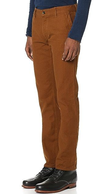 Raleigh Denim Jones Slim Canvas Trousers