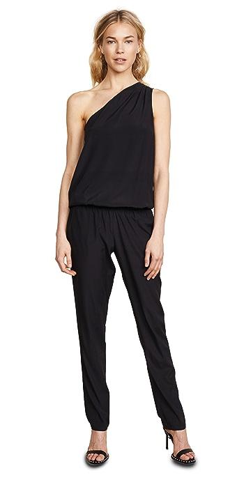 Ramy Brook Lulu One Shoulder Jumpsuit - Black