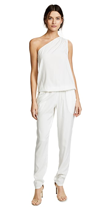 Ramy Brook Lulu One Shoulder Jumpsuit - Ivory