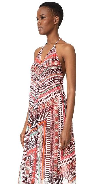 Ramy Brook Capri Herringbone Print Nadia Dress