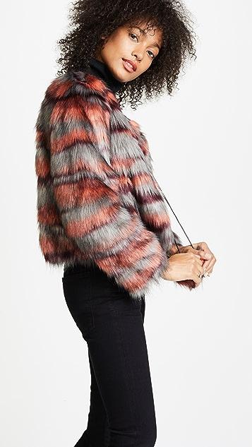Ramy Brook Camo Faux Fur Krissy Jacket