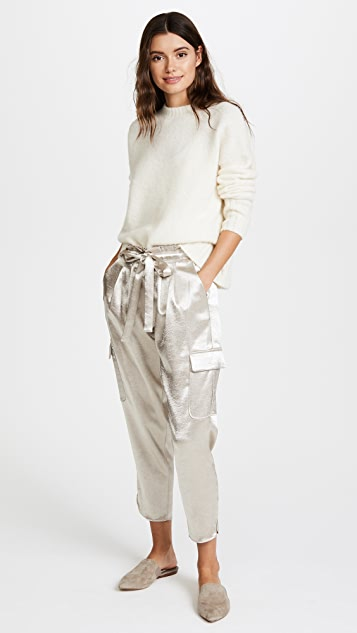 Ramy Brook Pocket Allyn Metallic Pants