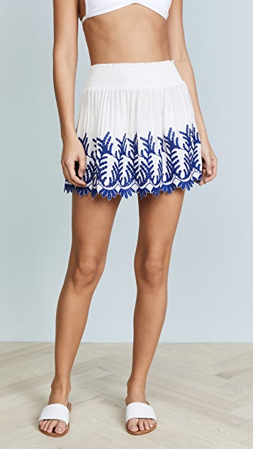 Ramy Brook Junia Skirt - White/Blue