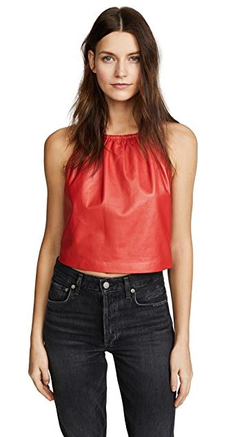 Ramy Brook Miley Leather Top