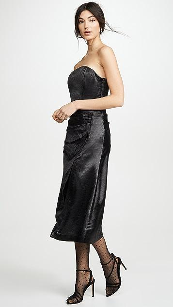 Ramy Brook Металлизированное платье Carmen