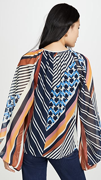 Ramy Brook Geo Printed Kayden Blouse