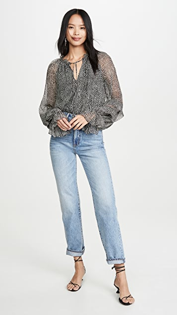 Ramy Brook Printed Stanley Blouse
