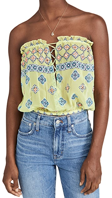 Ramy Brook Geo Printed Mika Cover Up Top