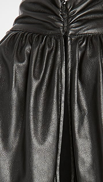 Ramy Brook Faux Leather Pam Blouse