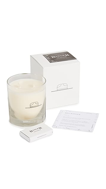 Ranger Station Scent No. 001 Leather + Pine Candle
