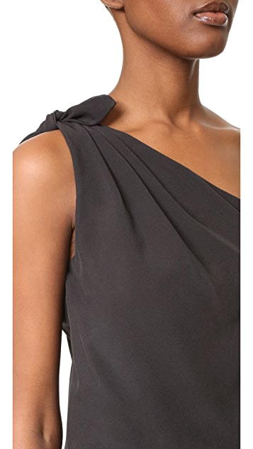 Rachel Antonoff Jules One Shoulder Tie Top