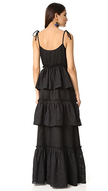 Rachel Antonoff Valentine Tiered Ruffle Maxi Dress
