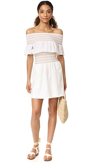 Rachel Antonoff Logan Smocked Off Shoulder Dress