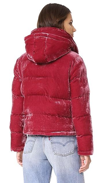 Rachel Antonoff Peggy Velvet Puffer Jacket