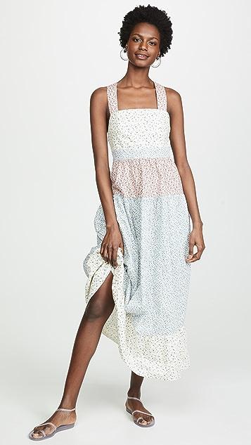 Rachel Antonoff Hannah Pinafore Tiered Maxi Dress