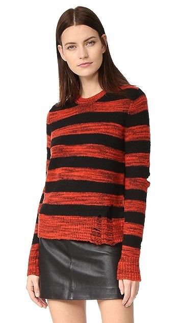 584279dc4 Raquel Allegra Slit Elbow Crew Sweater