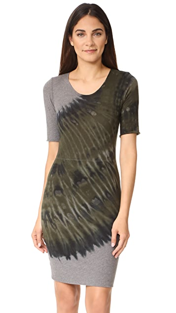 Raquel Allegra Short Sleeve Fitted Dress