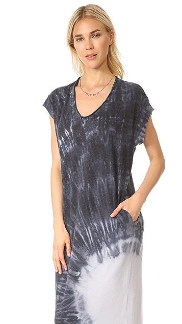 Raquel Allegra Short Sleeve Maxi Dress