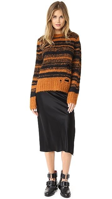 Raquel Allegra Stripe Fitted Sweater
