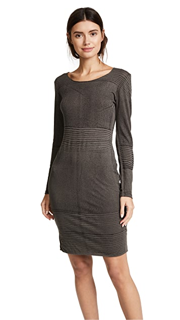 Raquel Allegra Long Sleeve Fitted Dress