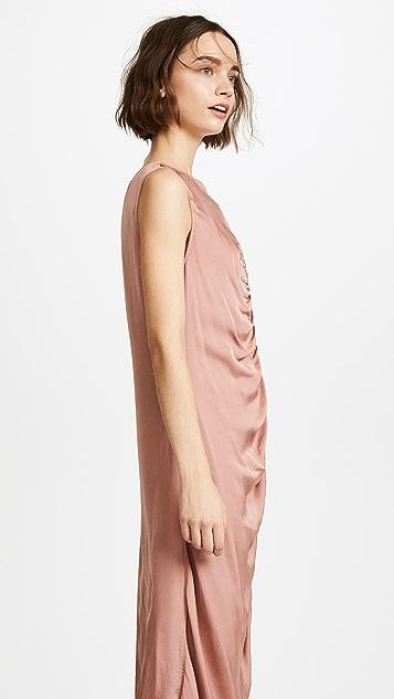 Raquel Allegra Gathered Midi Dress