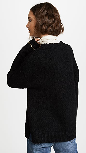 Raquel Allegra Oversized Crew Sweater