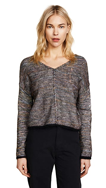 Raquel Allegra Square V Neck Sweater