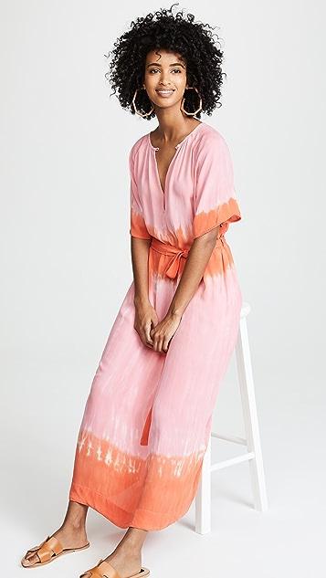 Raquel Allegra Reversible Flutter Sleeve Dress
