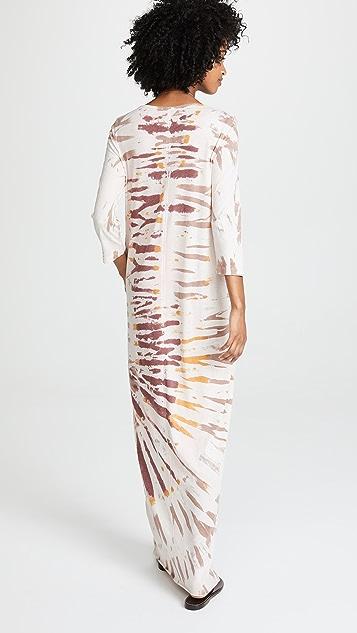 Raquel Allegra Half Sleeve Caftan Dress