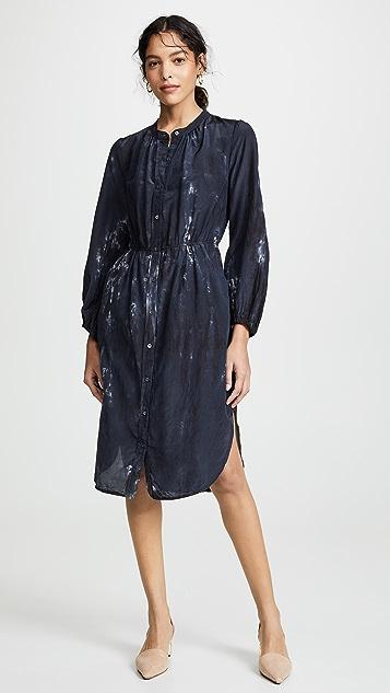 Raquel Allegra Shirred Bell Dress