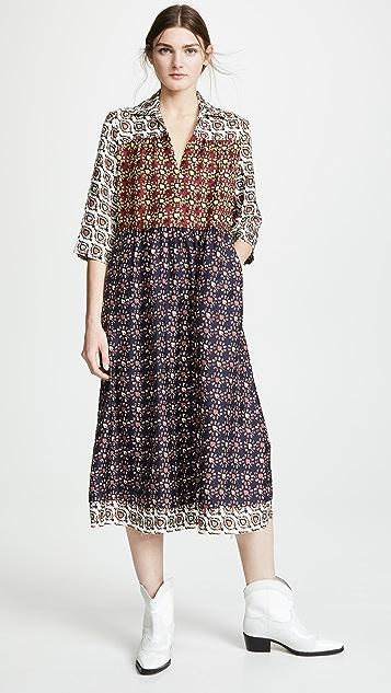 Raquel Allegra Tiered Peasant Dress