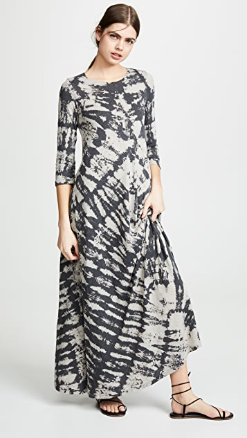 Raquel Allegra Half Sleeve Drama Maxi Dress